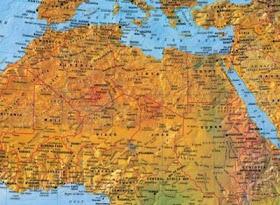Online Terkepek Afrika Domborzati Terkep