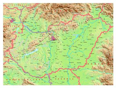 magyarország hegyei térkép Online térképek: Magyarország domborzati térkép magyarország hegyei térkép