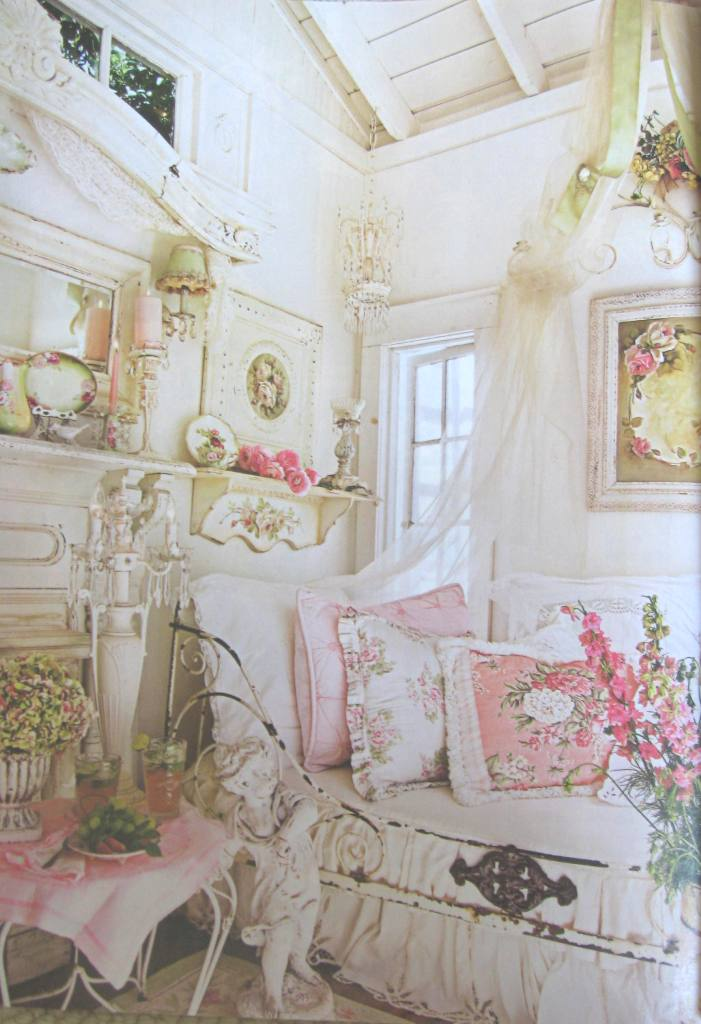 "Romantic Cottage Bedroom Decorating Ideas: Cindy Ellis Art: Our Garden House In ""Romantic Country"
