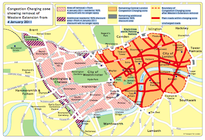 Congestion Charge Area Reduced