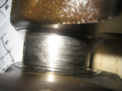 Nissan Crankshaft scoring scratches marks