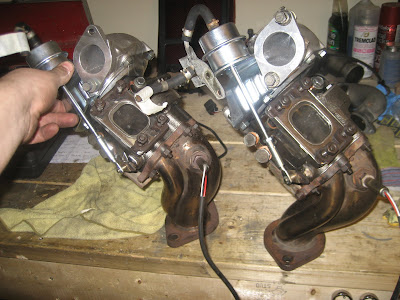 Garrett 2860R-5 Turbo Chargers with upgraded exhaust dump