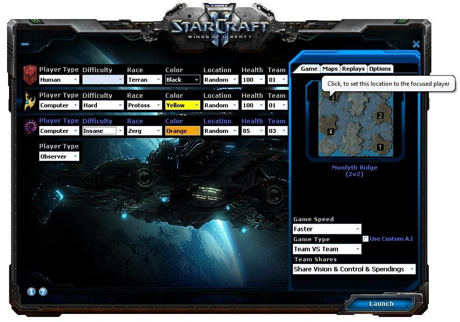 Blizzard Games: StarCraft 2 Offline Retail Launcher ... on monte carlo maps, fusion maps, tf2 maps, tacoma maps, explorer maps, diablo maps, gw2 maps,