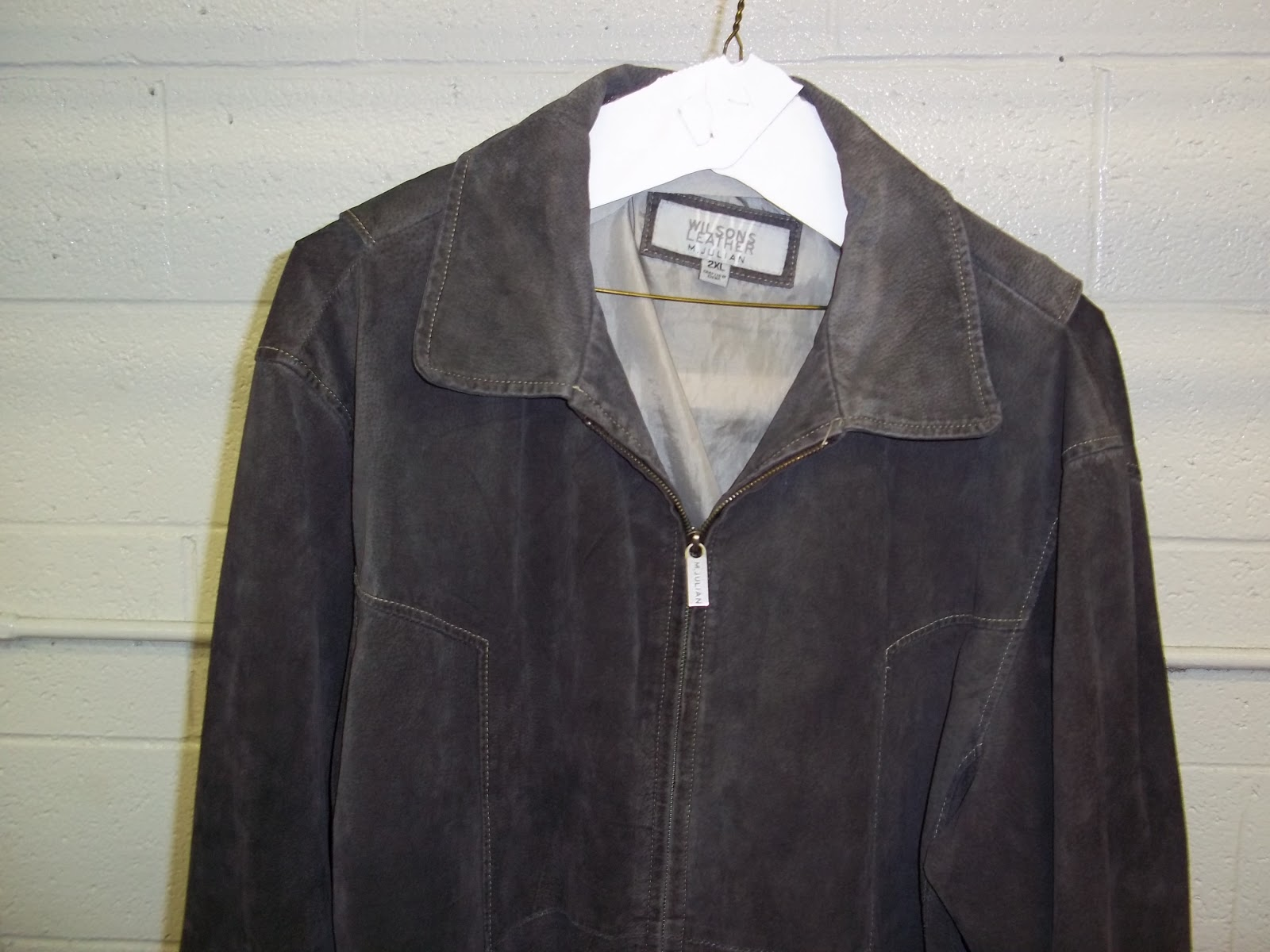 e40be757a Leather Cleaning, Re-dyeing and Restoration: Wilson Leather Jacket