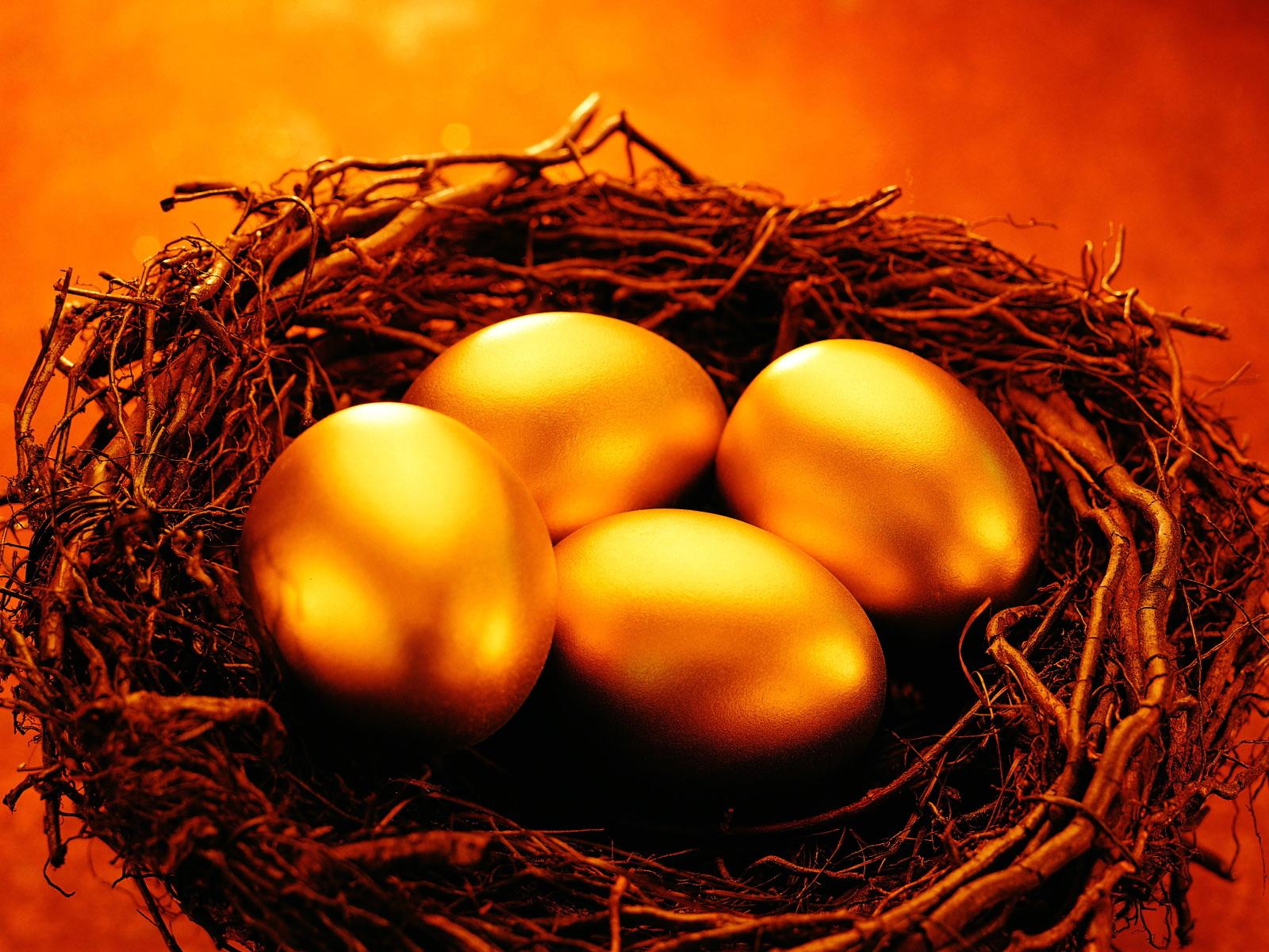 Gold eggs