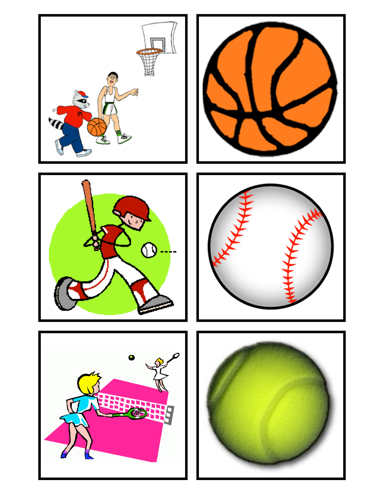 Sports Match Math Game 2 With Images
