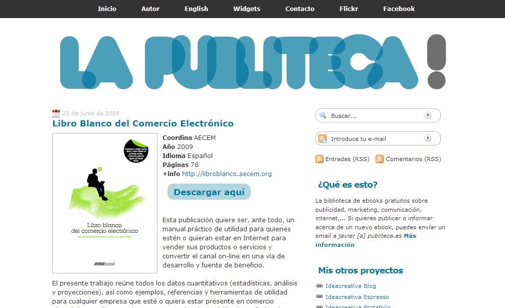 Publiteca, La Biblioteca De Ebooks Sobre Publicidad
