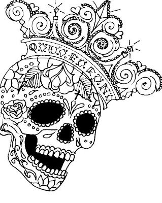free coloring pages king of hearts | LizVengeance Art: I Heart Sugar Skulls
