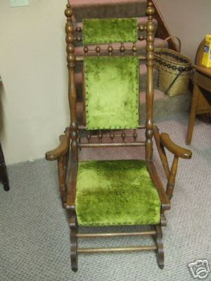George Hunzinger Furniture: Green Platform Rocker