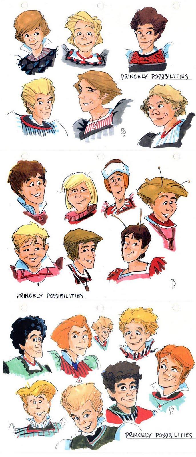 Sekvenskonst: Thumbelina character designs