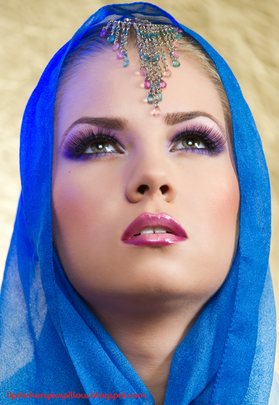 Sultry Arabic Makeup Look - Lipstick on your pillow ...