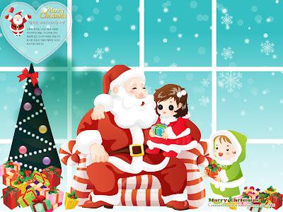 Animasi Gambar Lucu Kartu Ucapan Natal Lucu