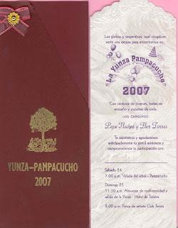 Yunza Juvenil Pampacucho 2007 Invitacion Para La Yunza