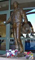 Ronald Reagan statue Reagan library cowboy