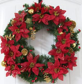 poinsettia wreath simply sweet home