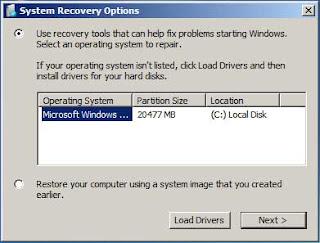 Selecione o sistema operacional a ser reparado e depois clique em NEXT