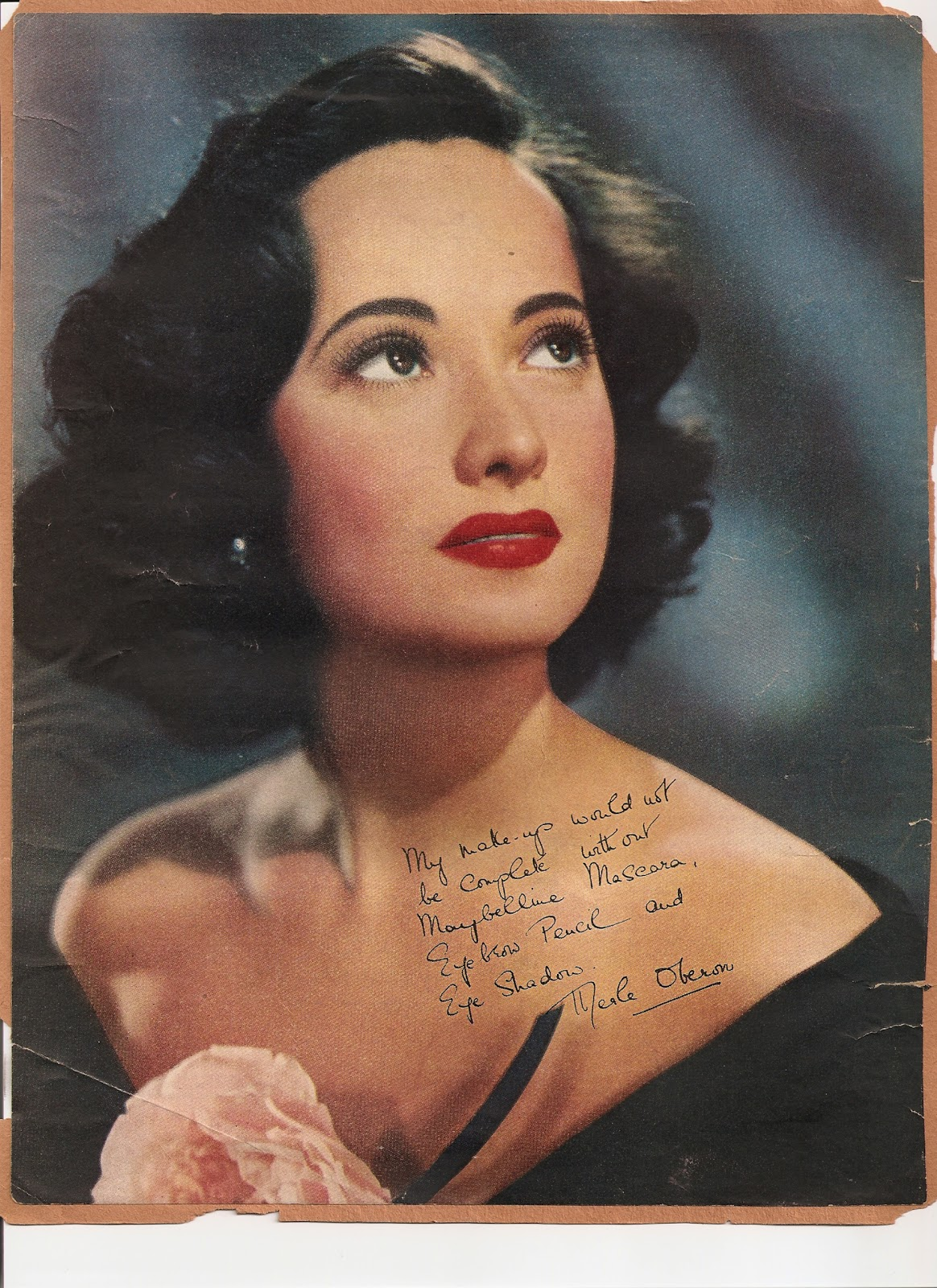 THE MAYBELLINE STORY Merle Oberon One Of Maybellines