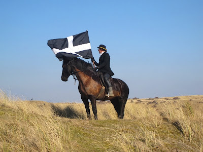 St Piran's day horse & kernow flag