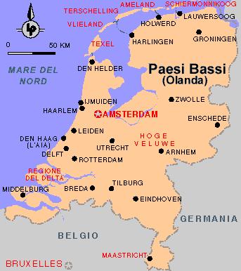 Olanda Cartina Fisica.La Geografia Della Secondab I Paesi Bassi