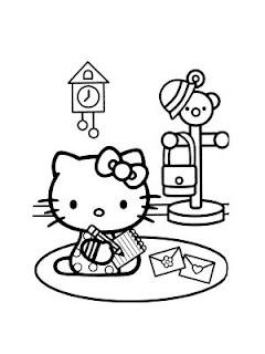 disegni da colorare per gli amanti di hello kitty