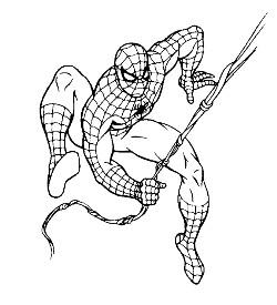 disegno dell'uomo ragno da colorare