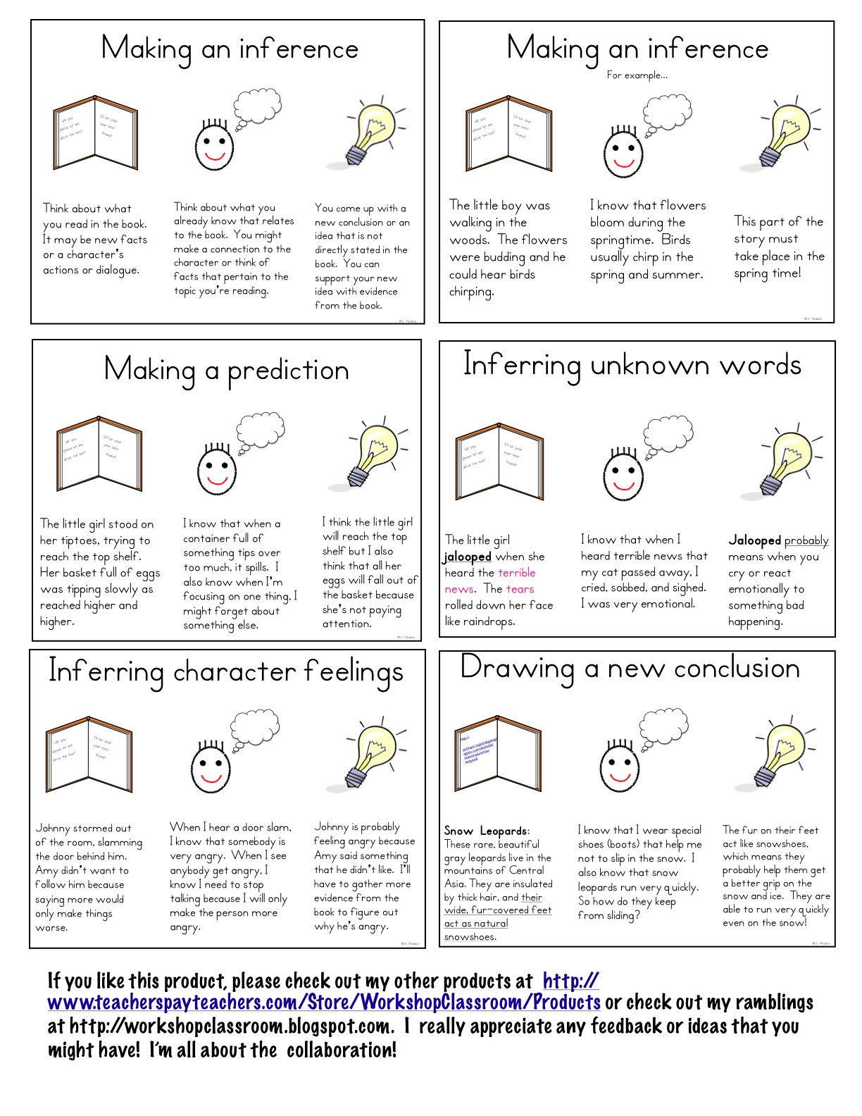 Workshop Classroom: Making inferences mini lessons