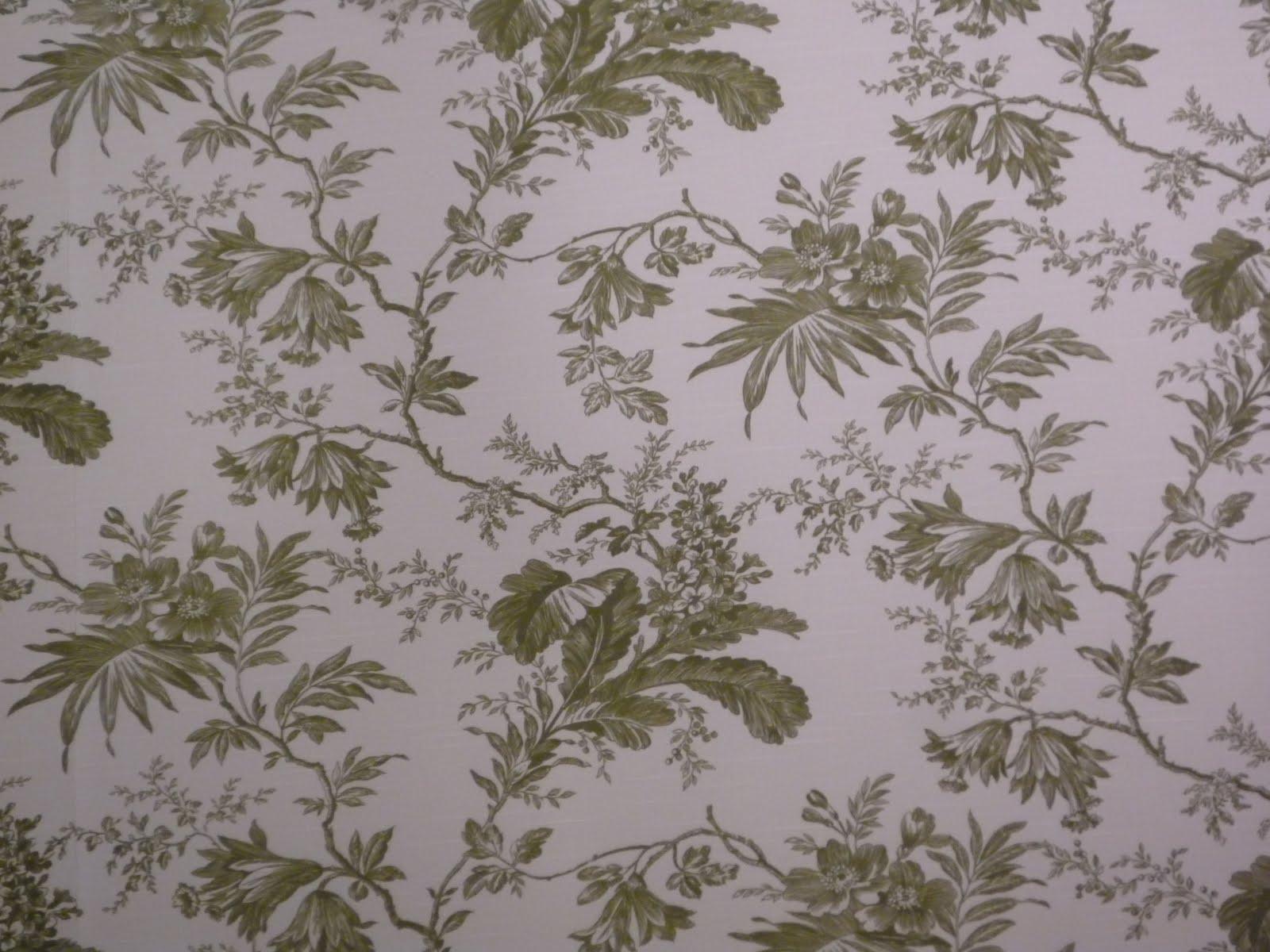 Belle Bouquet Pretty Green Wallpaper