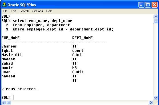 Data Selection Using SQL