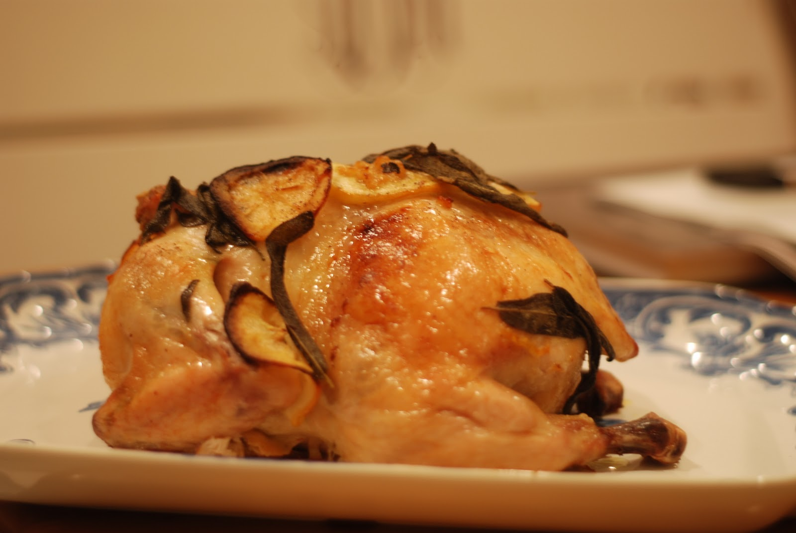 Roast Chicken with Lemon and Sage