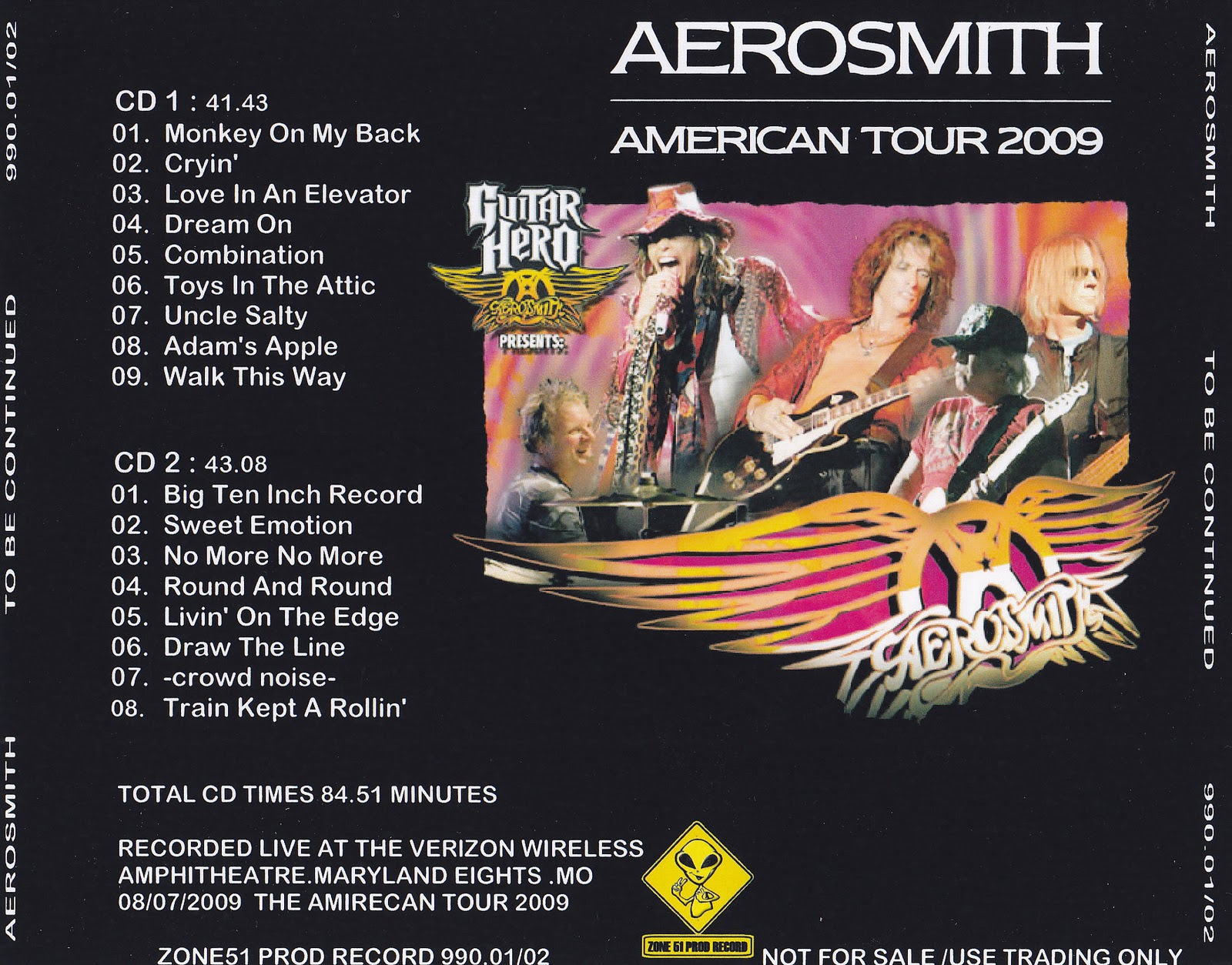 Aerosmith Bootlegs Cover Arts To Be Continued Maryland