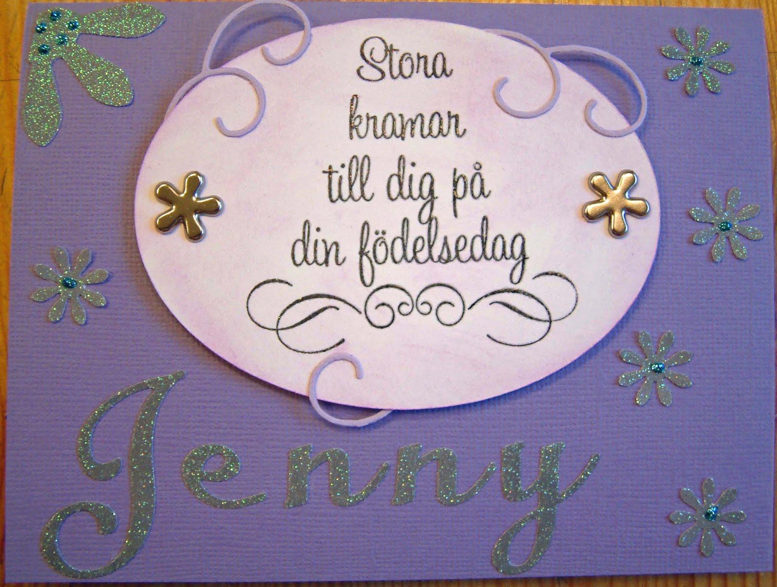 grattis älskade syster Anne Lindqvist: Grattis Jenny grattis älskade syster