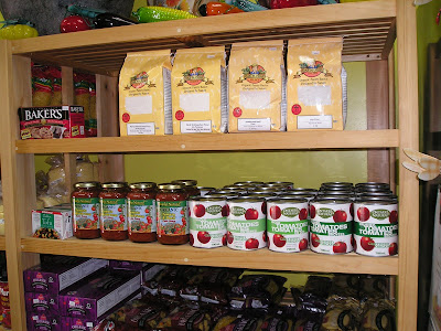 Cream of the Crop carries locally produced grocery products from Oak Manor Milling and the Ontario Natural Food Co-op