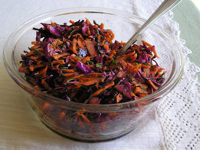 Turkish Red Cabbage and Carrot Salad
