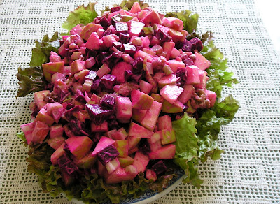 Beet Apple and Walnut Salad