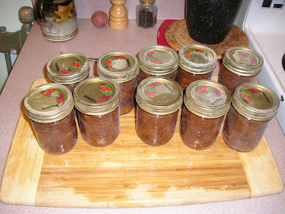 The Finished Jars of Chutney