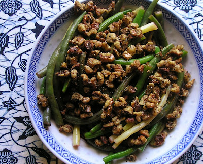 Marinated Beans with Spiced Walnuts