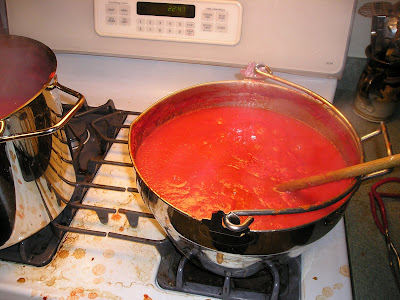 Cooking the Pasta Sauce