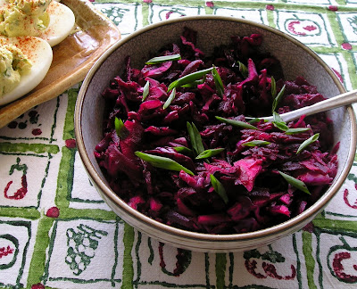 Beet and Red Cabbage Salad with Horseradish