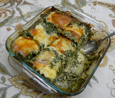 Spinach Lasagne with Friulano and Ricotta Cheeses