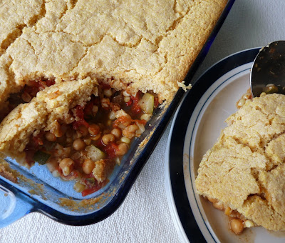 Vegetable Pie with Cornbread Topping