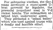 Defeat Finished Hun Experiments On New Weapons (C) - Hamilton Spectator 8-20-1945