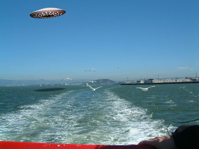 Flying Saucer Over San Francisco Bay