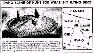 Idahoans Hunt For Downed Flying Discs (UFOs) - The Daily Courier - 7-8-1947