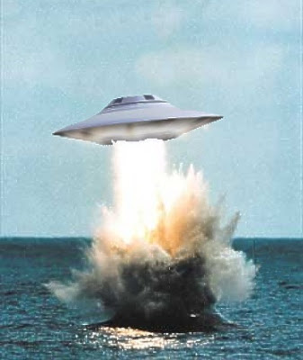 UFO Emerging From The Ocean