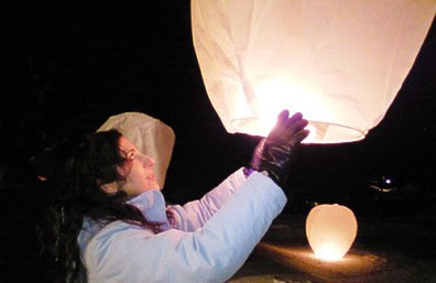 LeeAnn Prete Browett and one of the fateful balloons