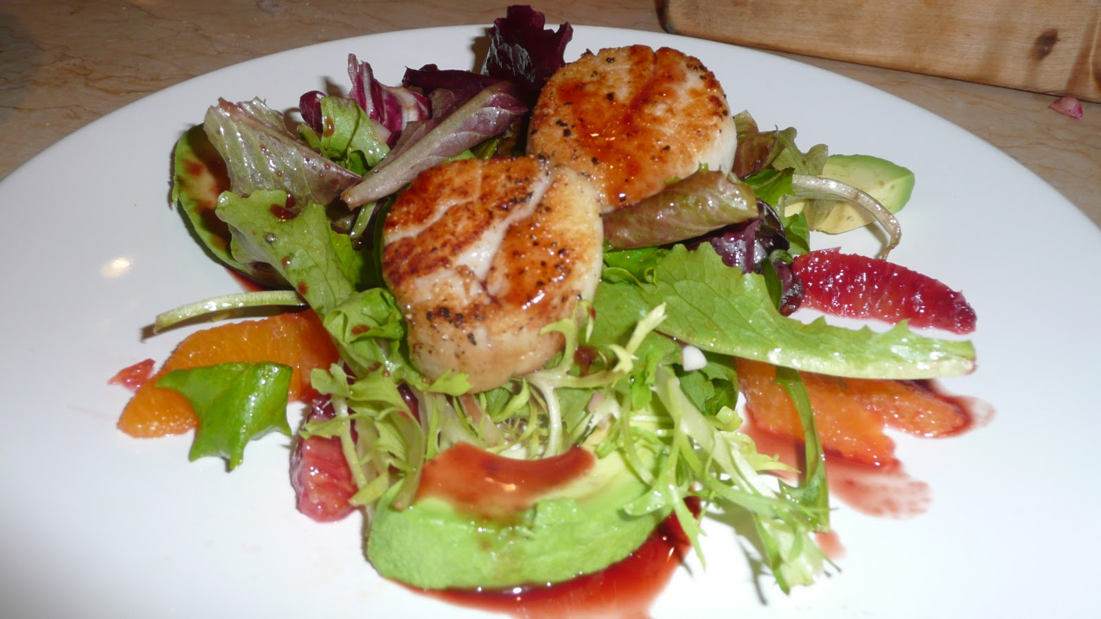 Gastrique Cuisine Experiments In The Kitchen Seared Sea Scallop Salad With