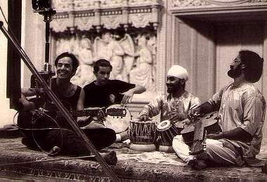 "Pt. Vishwa Mohan Bhatt playing Mohanveena with Ryland Peter ""Ry"" Cooder"