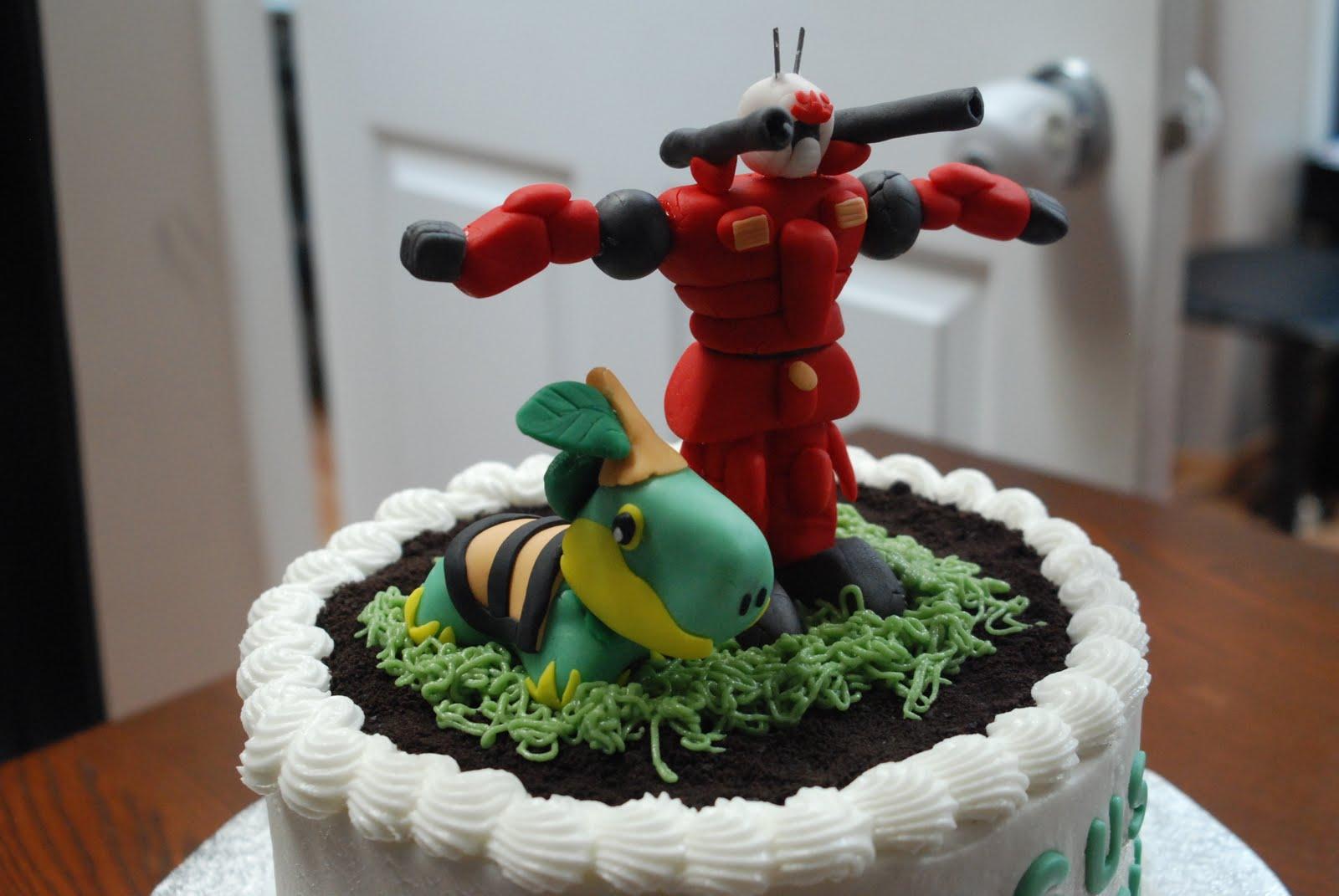 Bon G 226 Teau Gundam Vs Pokemon Cake