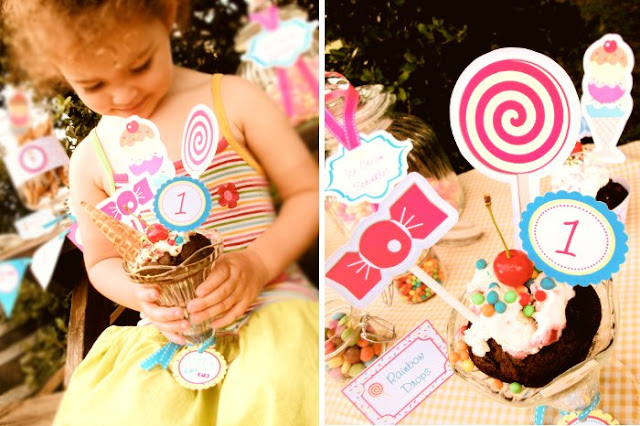Ice Cream & Candy Birthday Party - BirdsParty.com