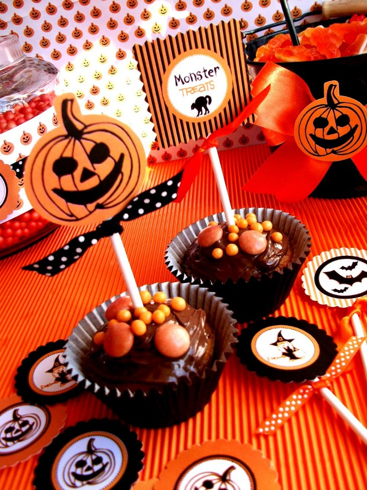 Halloween Printables | Orange & Black Spooky Party Ideas  - BirdsParty.com